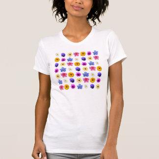 Blumen-Garten-Behälter-Spitze T-Shirt