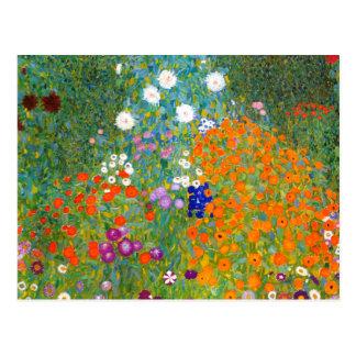 Blumen-Garten durch Blumen-Postkarte Gustav Klimt Postkarte