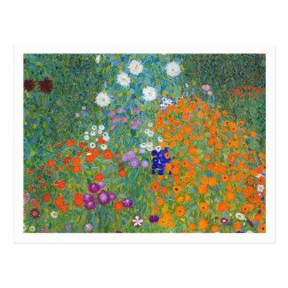 Blumen-Garten durch Gustav Klimt Postkarte