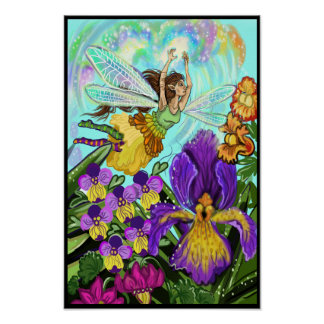 Blumen-Garten-Fee-Magie Poster