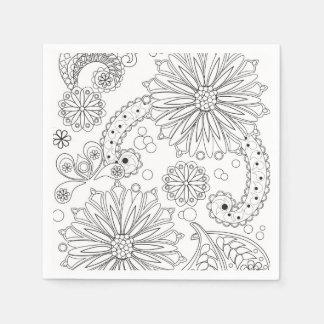 Blumen-Garten-Galaxie-Cocktail-Papierservietten Serviette