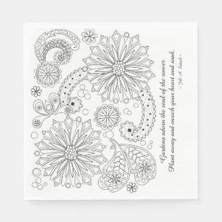 Blumen-Garten-Galaxie-weiße Papierserviette