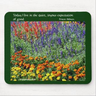Blumen-Garten-Inspirational Zitat Mousepad