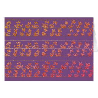 Blumen-Garten merkt die leeren lila notecards Karte