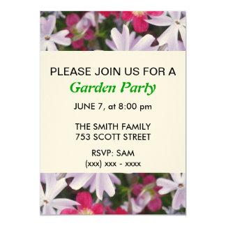 Blumen-Garten-Party Einladung