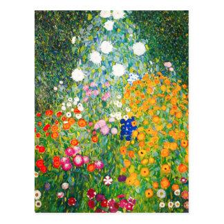Blumen-Garten-Postkarte Gustav Klimt Postkarte