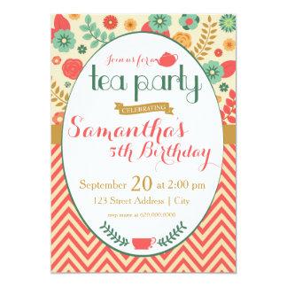 Blumen-Garten-Tee-Party Einladung