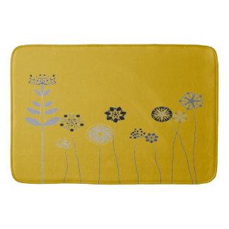 Blumen-Gartengelb der Badezimmermatte abstraktes Badematte