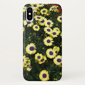 Blumen - gelbes Lila iPhone X Hülle