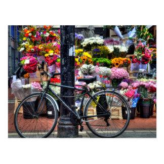 Blumen-Geschäft Postkarte
