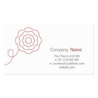 Blumen-Geschäfts-Karte Visitenkarten