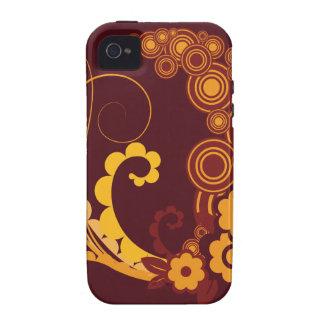 Blumen-Grafiken Vibe iPhone 4 Case
