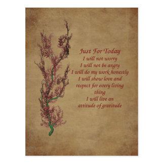 Blumen-Haltungs-Gebets-Inspirational Postkarte