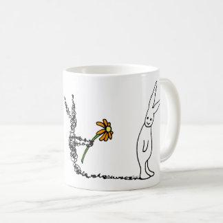 Blumen-Häschen Kaffeetasse