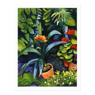 Blumen im Garten bis August Macke Postkarte