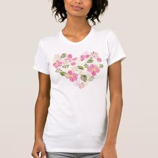 Blumen im Herzen - T-Shirt