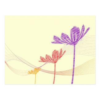 Blumen im Sand Postkarte