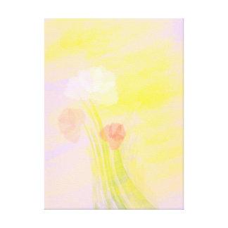 Blumen in abstraktem leinwanddruck