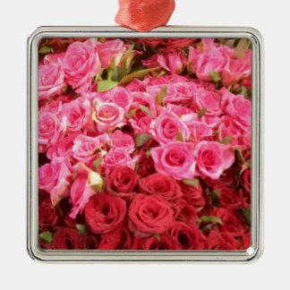 Blumen in den Philippinen, im Rosa und in den Silbernes Ornament