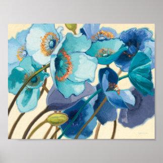 Blumen in den verschiedenen Schatten von Lila und Poster