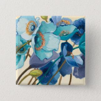 Blumen in den verschiedenen Schatten von Lila und Quadratischer Button 5,1 Cm