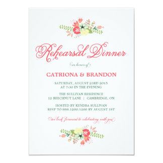 Blumen in der Blüten-Proben-Abendessen-Einladung 12,7 X 17,8 Cm Einladungskarte
