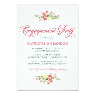 Blumen in der Blüten-Verlobungs-Party Einladung