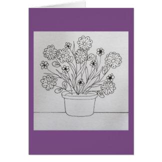 Blumen in der Pflanzer-Farbton-Buch-Karte Karte