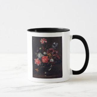 Blumen in einem Glasvase Tasse