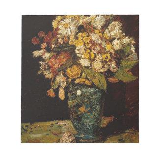Blumen in einem Vase Notizblock