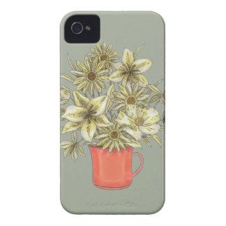 Blumen in Kaffee-Tasse 1 iPhone 4 Hülle