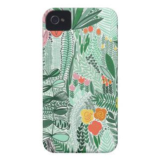 Blumen-Indonesien ethno Entwurf iPhone 4 Hülle