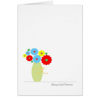 Blumen-Jahrestags-Karten, niedliche bunte Blumen Karte