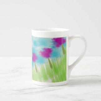 Blumen-Kaffeetasse Porzellantasse