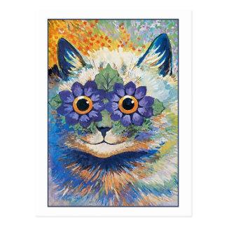 Blumen-Katze durch Louis Wain Postkarte