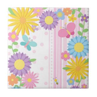 Blumen-Keramik-Fliese Kleine Quadratische Fliese