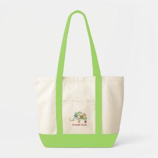 Blumen-Kinderelefant - Baby-Taschen-Windel-Tasche Tragetasche
