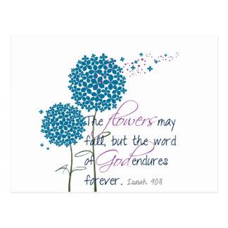 Blumen können fallen… postkarte