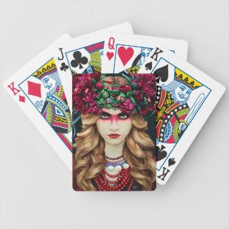Blumen-Krone Bicycle Spielkarten