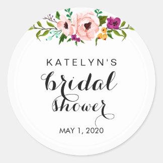 Flower Crown Bridal Shower Sticker