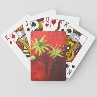 Blumen-Kunst, die klassische Spielkarten malt