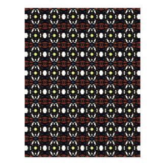Blumen-Kunst-Muster Browns abstraktes Flyerdesign
