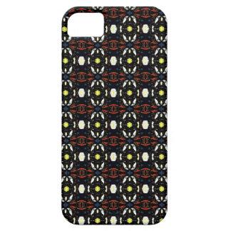 Blumen-Kunst-Muster Browns abstraktes iPhone 5 Cover