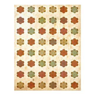Blumen-Kunst-Muster Browns Vintages abstraktes Flyerbedruckung