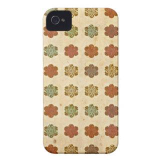 Blumen-Kunst-Muster Browns Vintages abstraktes iPhone 4 Case-Mate Hüllen