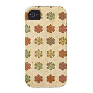 Blumen-Kunst-Muster Browns Vintages abstraktes iPhone 4/4S Hüllen