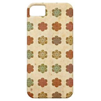 Blumen-Kunst-Muster Browns Vintages abstraktes iPhone 5 Etuis