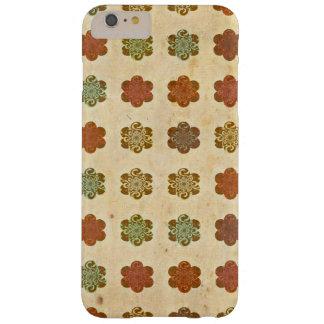 Blumen-Kunst-Muster Browns Vintages abstraktes Barely There iPhone 6 Plus Hülle