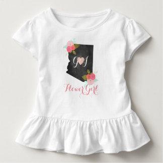 Blumen-Mädchen-Arizona-Staats-Rosa-Blumenhochzeit Kleinkind T-shirt