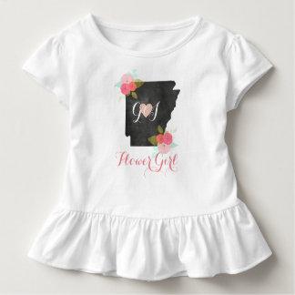Blumen-Mädchen-Arkansas-Staats-Rosa-Blumenhochzeit Kleinkind T-shirt